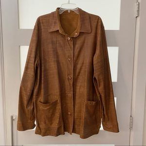 Vtg REVERSIBLE Danier Leather to Suede Jacket